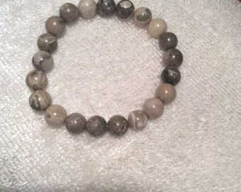 Fossilized coral reiki healing bracelet