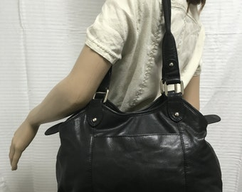 Great American leatherworks,leather purse, bag, soft, black leather, purse, purses ,bags
