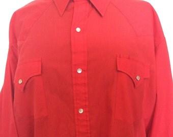 Red Western Shirt - XXL