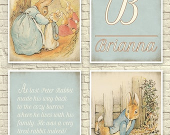 Classic Beatrix Potter Wall Art, Beatrix Potter Art Print, Peter Rabbit Wall Art, Baby Nursery, Art, Children's Art, Beatrix Potter Quote.