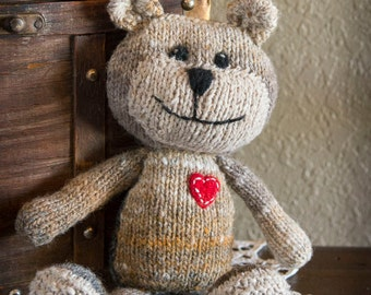 Knitted Stuffed Animal Bear Softie
