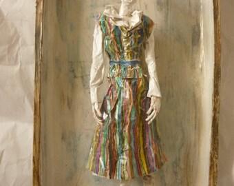 Edith Schiele portrait sculpture