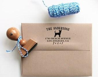 Custom Address Stamp - Chihuahua Dog Return Address Stamp, customized gift for holidays, housewarming and weddings, school