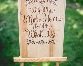 Rustic Wooden Wedding Sign, Welcome Wedding Sign, Wedding Decor, Rustic Wedding Sign, Wedding Reception, Rustic Wedding Decor