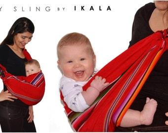 Baby sling, Baby carrier, Guatemalan Cotton Silk slings, Newborn or toddler slings, Multicolored slings, Adjustable sling, Nursing covers