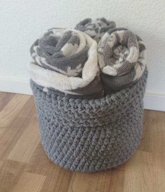 Handmade Crochet Basket : Large crochet basket handmade fold by