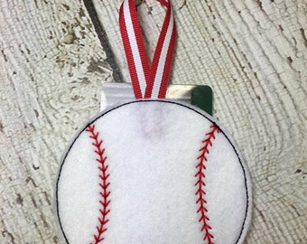 Baseball - Softball - Gift Card Holder  - Ornament -  In The Hoop - DIGITAL Embroidery DESIGN