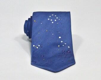 Pisces Constellation Hand Painted Silk Tie