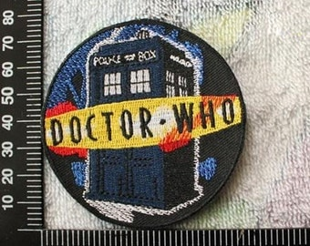 Doctor Who Embroidered Patch The Bulding Iron on Patch CD7