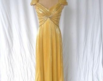 Bob Mackie Beaded Marigold Gown