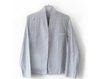 20% off Light jacket women,spring jacket,striped jacket,denim jacket women,modern minimalist, gusta,summer jacket,cropped