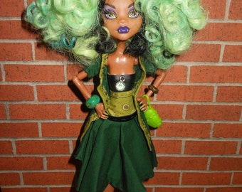 Custom Re-Rooted Monster High Doll - Claddagh O'Wolfe