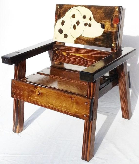 Childrens furniture outdoor wood dalmatian chair kids for Childrens outdoor furniture