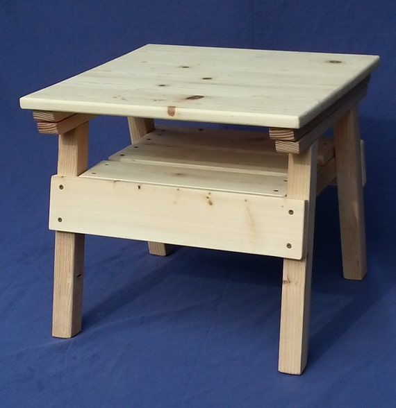 diy project kids solid wood craft activity table toddler