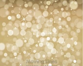 Gold Bokeh Photography Backdrop, Christmas Lights Digital Back Drop, Baby Children Photo Shoot Props, Blurry Lights Background