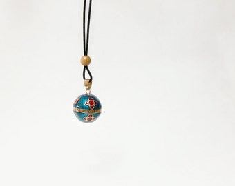 Mexican Bola Necklace, pregnancy necklace, baby shower gift, Mom to be gift, Bola Necklace