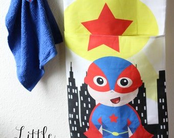 Superhero bathroom etsy - Superhero laundry hamper ...