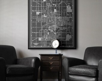 Oklahoma city map Etsy