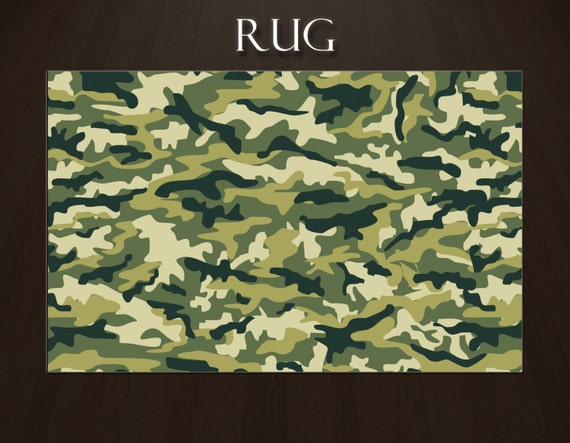 items similar to camo rugs rugs for boys room camouflage rugs boys area rugs green area rug. Black Bedroom Furniture Sets. Home Design Ideas