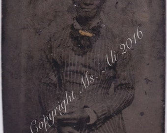 African American woman - Tintype Photograph