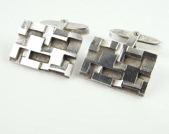 Modernist Jewelry 1970s Jewelry Minimalist jewelry Unique Gifts for Men Groom Cufflinks Wedding Cufflinks Antique Cufflinks Mens Retro R2669
