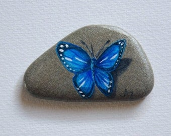 Handpainted Rock - Painted Rock - Butterfly