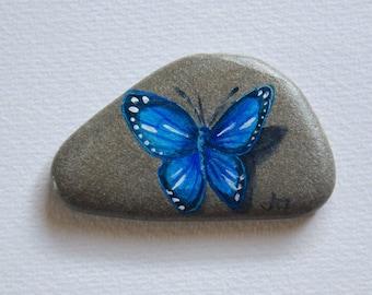 Handbemalter Stein - Schmetterling