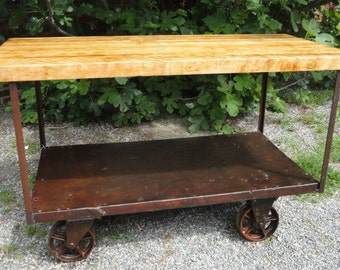 Industrial Cart with Bowling Alley Top
