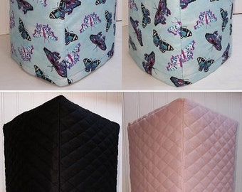 Quilted Blue & Purple Butterflies Blender Cover w/4 Pockets (4 Colors Available)