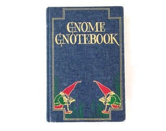 Vintage Gnome Gnotebook - Vintage Avenel Gnome Gnotebook - Vintage Gnome Notebook - Jean Theme Gnome Notebook - Vintage Journal