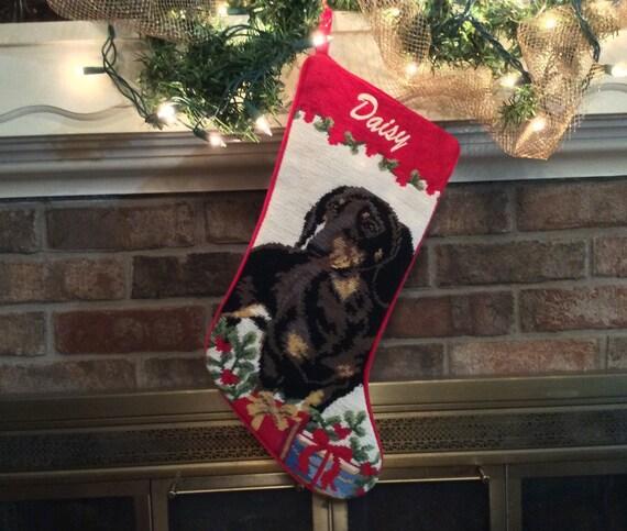 Dachshund dog stocking personalized christmas stockings dog for Personalized dog christmas stocking