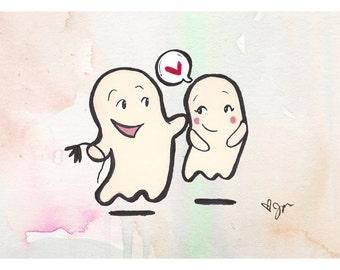 Hello Boo-tiful! Sweet ghost illustration!