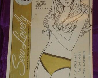 70s Vtg Misses to Plus Size Hip Hugger Panties by Laverne Devereaux FACTORY SEALED Sew Lovely Pattern P506 Hip 34 thru 50 US 87 thru 126 Cm