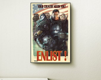 Xbox birthday etsy for Fallout 4 canvas painting