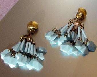 Blue Sky Earrings, 1950s