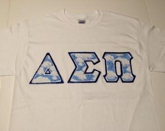 CUSTOM Greek Letter Shirt(Delta Sigma Pi)
