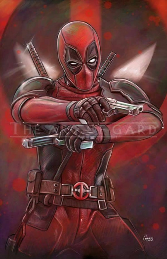 Deadpool (Gunplay) 11X17 High Quality Art Print