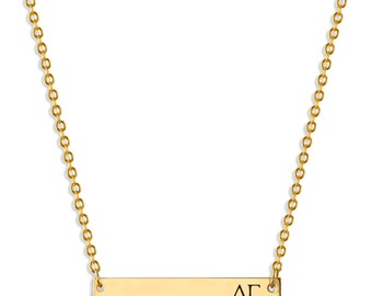 delta gamma sorority bar necklace delta gamma necklace sorority necklace sorority gift big little gift sorority jewelry dg gifts