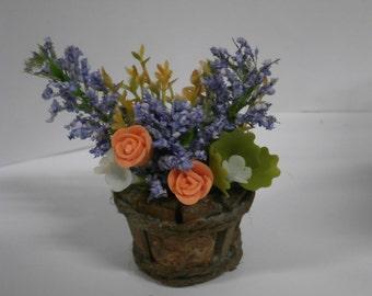 Old tub, garden flowers