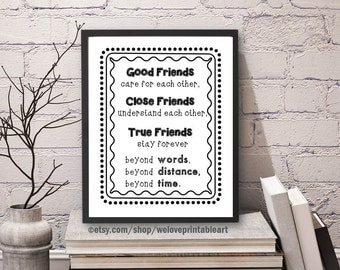 Best Friend Gift, Long Distance, Friendship Quote, Best Gift, Best Friend Decor, Best Friend, Moving Away, Best Friend Far Away, Gift Idea