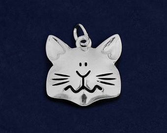 Large Cat Face Shaped Charm (RETAIL) (RE-CHARM-03-P)