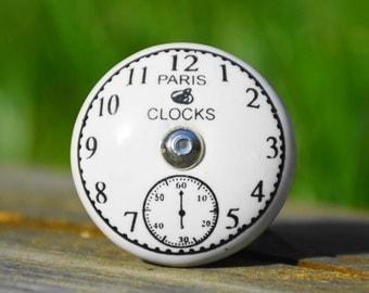 Paris knob/Paris cabinet knob/Paris ceramic knob/Paris clock knob/clock knob/clock cabinet knob/clock ceramic knob/decorative cabinet knob