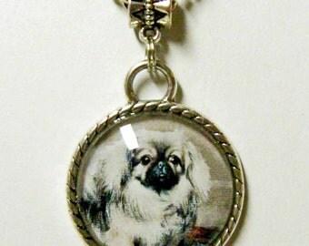 Pekinese pendant with chain - DAP05-015
