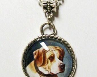 Mastiff pendant with chain - DAP05-026