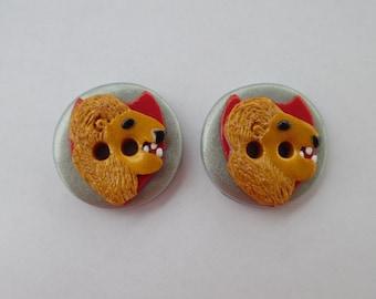 Harry Potter (Gryffindor) Buttons ~ Set of 2