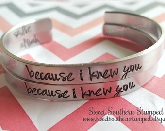 Because I Knew You-Broadway WICKED Cuff Bracelet-Great for best friends or fans like me!