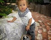 Black/White Geometric Infinity Scarf - Baby/Toddler