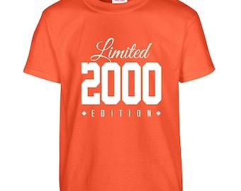 2000 Limited Edition Birthday Tshirt, Kids 16th Birthday Tshirt, Children's Birthday Tshirt, Gift for Child Birthday TH-2000Ts