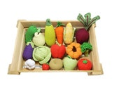 Crochet knit vegetables fruits 16 Pcs Birthday gifts Play food Kids gift Toys Waldorf toys Baby toys stuffed toy Baby gift Soft toys Rattles