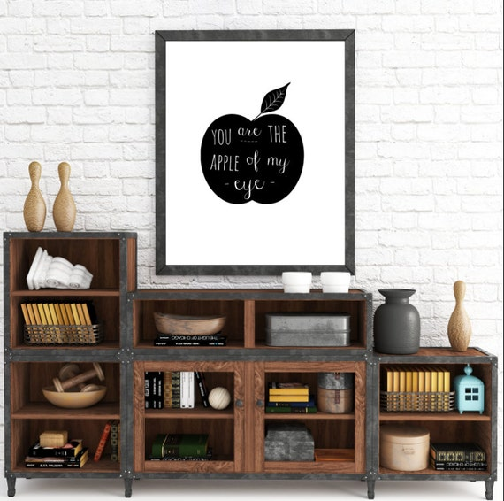 You Are The Apple Of My Eye, Classroom Decor, Apple Wall Art, Nursery Decor, Instant Download, The Copper Anchor- ADOPTION FUNDRAISER
